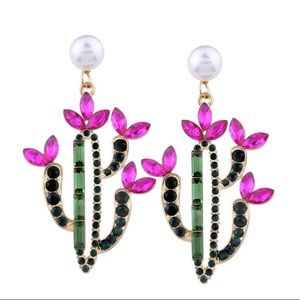 Jewelry - Cactus succulent statement earrings